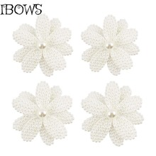 1Pc Beauty White Pearl Bow Hair Accessories With Clips Flower Hair Bow Girls Alligator Hair Clip For Girl Kid(China)