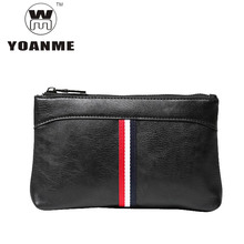 YOANME Men Leather Wristlets Portable PU Hand Bag Male High Quality Clutch Bag Small Summer Hand Bag Men Birthday Gift SY1388