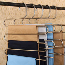 New Pants Trousers Hanging Clothes Hanger Layers Clothing Storage Space Saver Neat Tools(China)