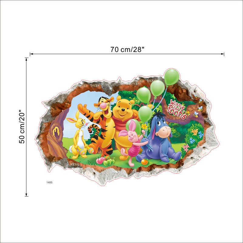 HTB1116ehH I8KJjy1Xaq6zsxpXaZ - Baby Bear Cartoon DIY Wall Stickers For Kids Children Room Decaor 3d Window Bear Winnie Pooh Nursery Wall Decals