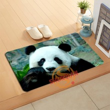 Custom Panda Doormat Bath Mats Comfortable and soft Home Decor Door Mat Floor Mat A320#43(China)