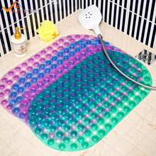 "38x68cm/15""x26"" Oval Bathroom Shower Floor Mat Massage PVC Bath Mat Suitable For Bathrooms/Toilets/Bathtubs"