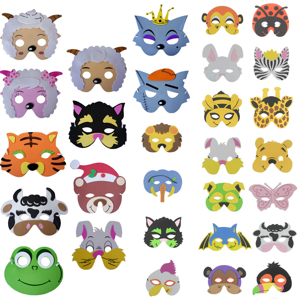 1 Pcs Mask Kids Birthday Party Supplies Cartoon Mask Child EVA Lovely Party Kindergarten Performance Tool Party Decoration