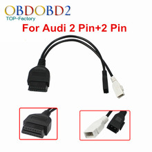 For Audi 2P+2P 2x2 Pin To 16 Pin Diagnostic Cable For AUDI 2 Pin Connector OBD2 OBDII 16pin VAG COM Adapter High Quality
