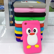 1 x Hot Selling Lovely 3D Cartoon Penguin Soft Silicone Case Skin Cover for iPhone 3GS 3G Back Cover Case