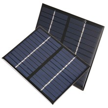 12V 1.5W Epoxy Solar Panels Mini Solar Cells Polycrystalline Silicon Solar DIY Solar Module 115x90mm
