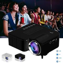 Portable Hot Home Cinema Theater Multimedia Mini HD LED Projector with AV HDMI +Remote EU Plug White