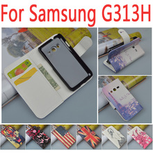 For Samsung Galaxy Ace 4 Lite G313 G313H SM-G313H Ace 4 Neo G318H SM-G318H Cute Printing Cover With Card Slot And Stand Function