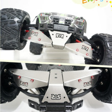 Qingpeng 1/8 monster truck ARRMA Nero FAZON Big Rock Steel Bottom Armor Suspension Arm Protection Stainless Steel Chassis