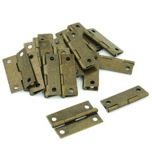 19 Pcs Bronze Tone Metal Cabinet Drawer Door Butt Hinges Doorhinge