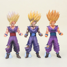 20cm Anime Dragon Ball Z Super Saiyan Son Gohan Action Figures Master Stars Piece Dragon ball chocolate gohan black Model Toy