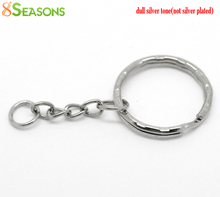 "8SEASONS 30PCs Silver Tone Color Key Chains & Key Rings Keychain 53mm(2 1/8"") long (B19405)"