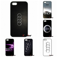 For iPhone 4 4S 5 5C SE 6 6S 7 Plus Galaxy J5 J3 A5 A3 2016 S5 S7 S6 Edge Hot Sale For Audi White logo Mobile Phone Case