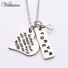 Handstamped So there's this boy,he kinda stole my heart,he calls me mom Mother Son Silver Plated Pendant Necklace(China)