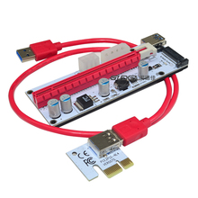 3 в 1 4PIN molex pci-e Riser Card 6pin стояк SATA 60 см PCIe 1x к 16x PCI Express Riser карты для Antminer Bitcoin Miner добыча(China)