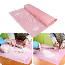50*40cm Silicone Rolling Fondant Mat Cake Dough Fondant Rolling Kneading Mat Baking Mat With Scale