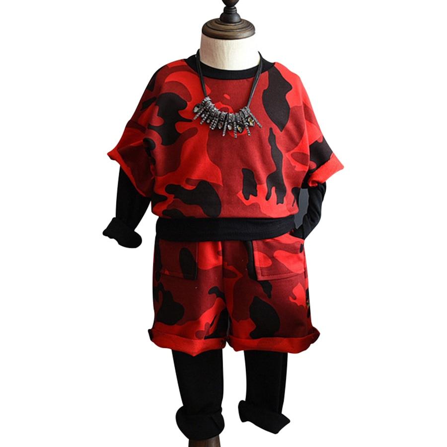2017 New Chidren Kids Girls Clothing Set Autumn 2PCS Sets T-shirt Pants Suits Cotton Boys Clothes Fashion Camouflage X1263<br><br>Aliexpress