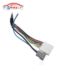 Car Radio Stereo Female ISO Plug Power Adapter Wiring Harness Special for Nissan Tiida ISO harness power cable(China)