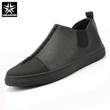 Buy URBANFIND Slip-on Men Leather Casual Shoes EU Size 39-44 New Arrival Man Leisure Fashion Footwear Black / White / Gold for $19.75 in AliExpress store