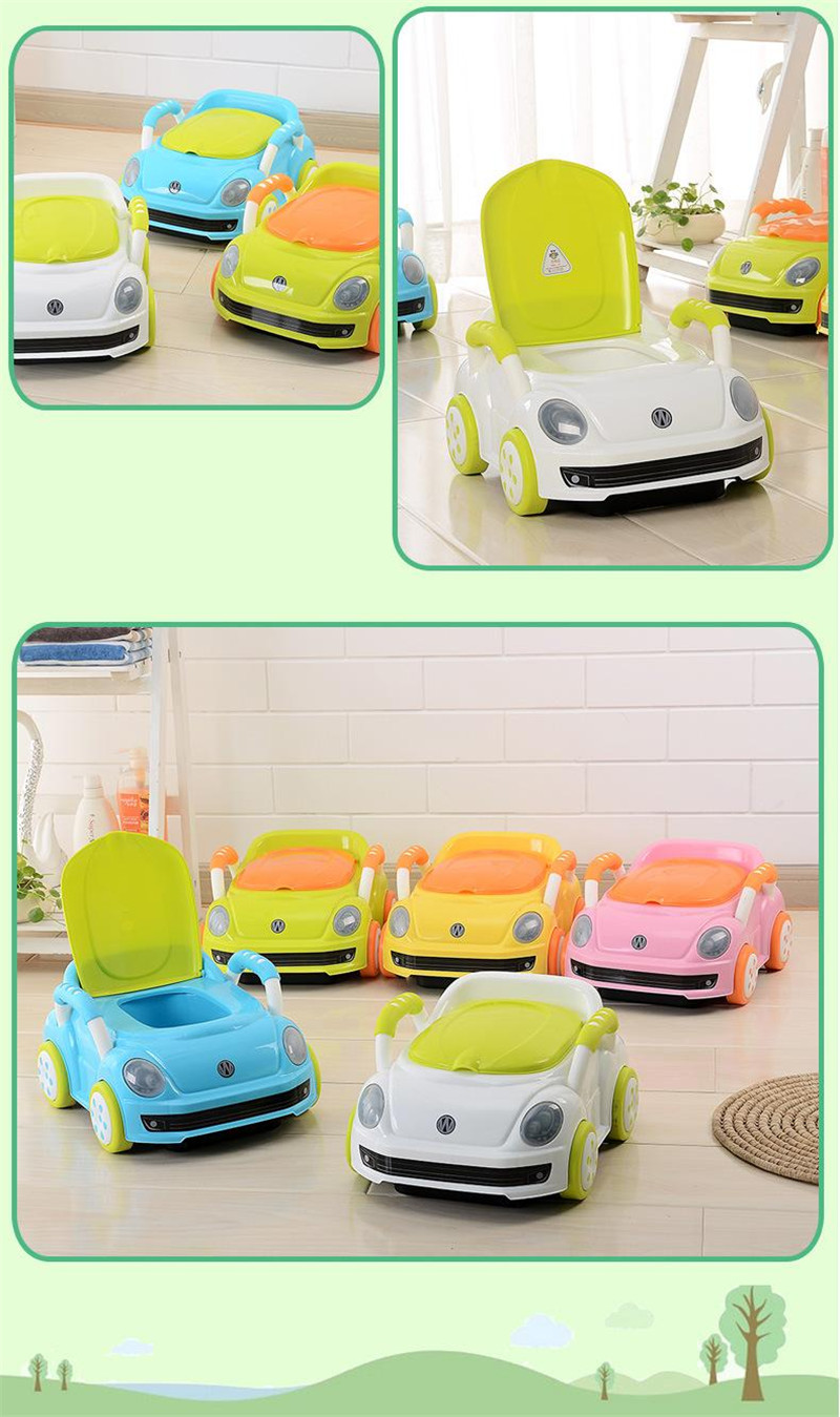 2017 Brand Cute Beetle Car Style Baby Potty Trainer Plastic Kids Toilet Travel Potty Chair Free Shipping Urinary Potty Boy Girl14