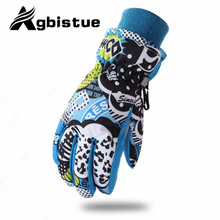 Agbistue Brand Men Skiing Gloves TPU Bag Motorcycle Winter Snowmobile Snowboard Ski Gloves Warm Ride Thick Gloves Free shipping!