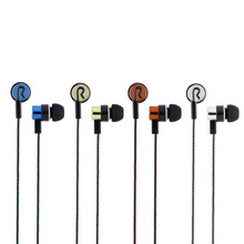 Sports Running Noise Isolating Stereo 1.1M in-Ear 3.5mm Media Player Music Earphone Stereo Music Headphone 5 Colors Optional