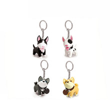 1pcs/lot resin English bull terrier dog keychain Novelty Souvenir chaveiro animal keychain Lover tinkerbell pet dog gift