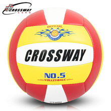 Wholesale or retail CROSSWAY Official GAME BALL Size 5 PVC Volleyball Soft Touch V503 Training Volleyball Free Shipping(China)