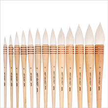 Very excellent quality goat hair wooden handle watercolor painting drawing art supplies artist paint brush pen(China)