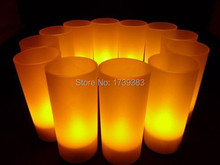 60pcs/lot  Rechargeable Flameless LED Candle Light Flash Electronic LED Candle Light Battery Operated Tea Candles Lamp for Party
