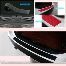 Car Styling Rubber Rear Guard Bumper Protector Trim cover For Opel Toyota Renault Audi A3 kia Rio K2 Volkswagen Passat B5 B6(China)