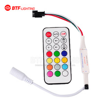 WS2811/WS2812B/UCS1903 IR Controller 5v/12v 21keys Led Remote for Led Pixels Modules Strip(China)