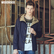 Woodvoice Famous Brand New Arrival Spring Fashion Male High Quality hooded Thin Casual Jacket Men Outerwear Men's jackets Coats(China)