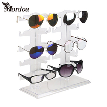 2017 New Eyeglasses Sunglasses Glasses Plastic Frame jewelry Display Stand Holder 10 pairs Sunglasses Showing Rack Holder(China)