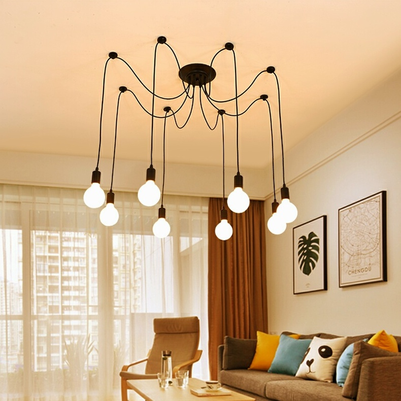 With Chandelier Spider Hangingclipart