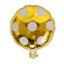 10 inch Helium Balloon Dot Large aluminum Foil Balloons Inflatable gift Children's Birthday baloon Party Decoration Ball