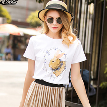 Render unlined upper garment of a T-shirt female 2017 euro dollars led cultivate one's morality summer new printing short sleeve