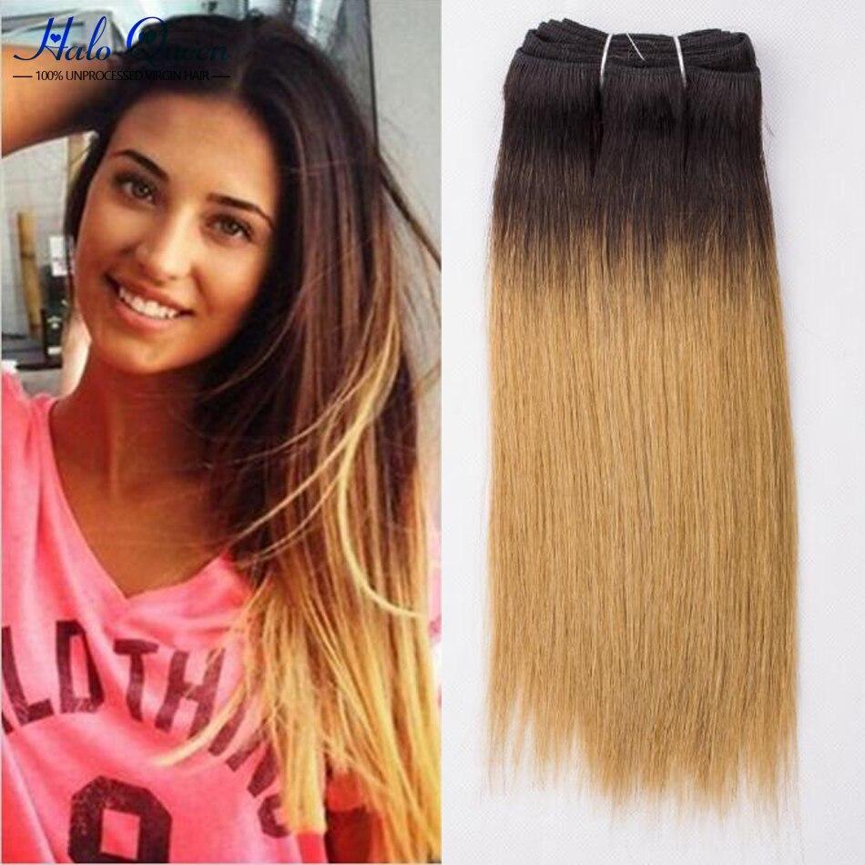 Brazilian Virgin Hair Ombre 1b/27 Honey Blonde Brazilian Hair Weave 2 Bundles Brizilian Virgin Hair Brazillian Straight Hair<br><br>Aliexpress