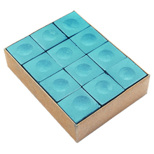 MAYITR 12pcs/set Pool Snooker Cue Chalk No-Slip Chalk Billiard Table Chalk Sport Accessories Blue/Green