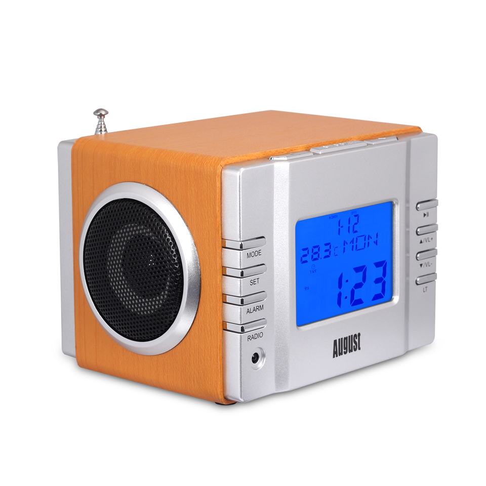 August MB300 Portable Radio - Gold