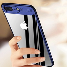 ZNP Transparent Full Cover Case For Apple iPhone 8 8 Plus Acrylic Back Protective Cover For iPhone 7 6 6S Plus 6 Phone Case Cape(China)