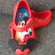 Kids Sandals Boys Girls Children Summer Mini Mouse Sandals Yellow Red Black Gray Baby Shoes Flat Infant Kids Minnie Shoes