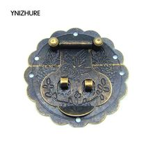 20pcs 60mm Antique small hasp lock buckle with retro tin trunk lock hasp 6CM small dark bird buckle jewelry box latches