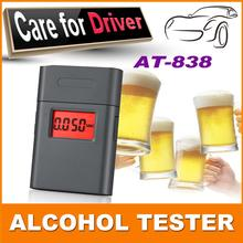 mini portable digital personal breathalyzer/breathalyzer alcohol tester display with 360 degree rotating mouthpiece pft 838