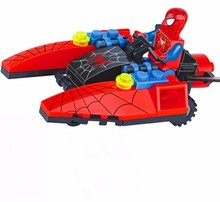 New Compatible Legoe DC Super Heroes Spiderman Flight Motorcycle Building Blocks Figure Bricks For Children Toys Christmas Gifts