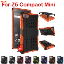 LELOZI Cheap Armor Rugged Hybrid Hard PC TPU Soft ShockProof Phone Case Cover Cove Bag For Sony Soni Xperia Z5 Z 5 Compact Mini