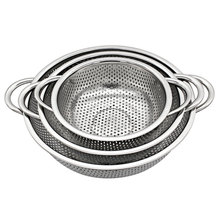 Stainless Steel Vegetable Basin New Style Fruit Basket Rice Sieve Wash Colander Food Pot Kitchen Accessories