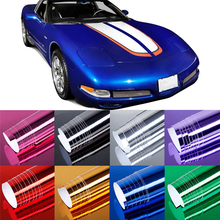 152cm * 50cm / 59.84 *19.69in Car polymer PVC film Adhesives Electroplating Mirror Color Changing Film sticker car-styling