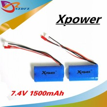 2pcs 7.4 V 1500mah Xpower li-po lipo battery for DH9053 9101 mjx f45 9118 rc Helicopter parts(China)
