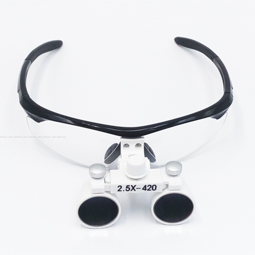 2.5X  Anti-fog magnify dental magnifier medical equipment antifog loupes optical glasses Dentist 2.5 times surgical loupe<br>